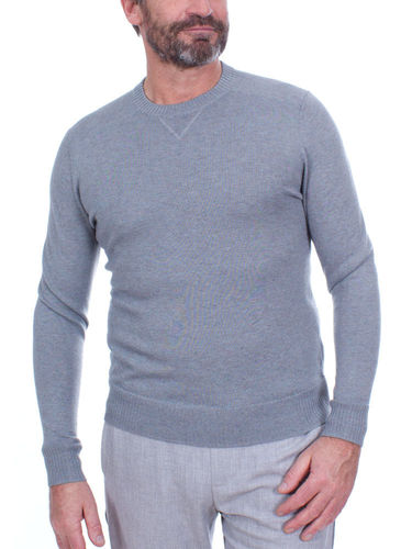 Smartwool Heren Sparwood Crew Sweater (Lunar Gray Donegal)
