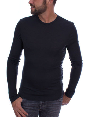 Icebreaker Heren Anatomica LS Crewe (Jet Heather)