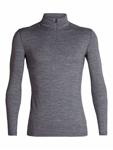 Icebreaker Heren 200 Oasis LS Half Zip (Gritstone Heather)
