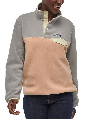 Patagonia Dames Lightweight Synchilla Snap-T Fleece Pullover (Rosewater)